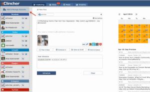 Add Manage Accounts, eClincher