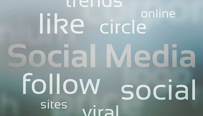 Board with marketing keywords .eClincher, social media management tool