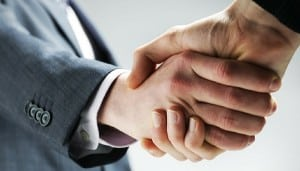 Shake hands .eClincher, social media management tool