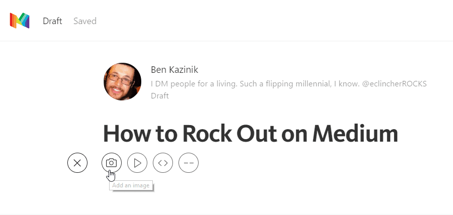how to write an article on medium