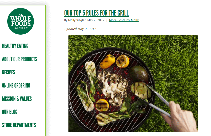 whole foods blog post