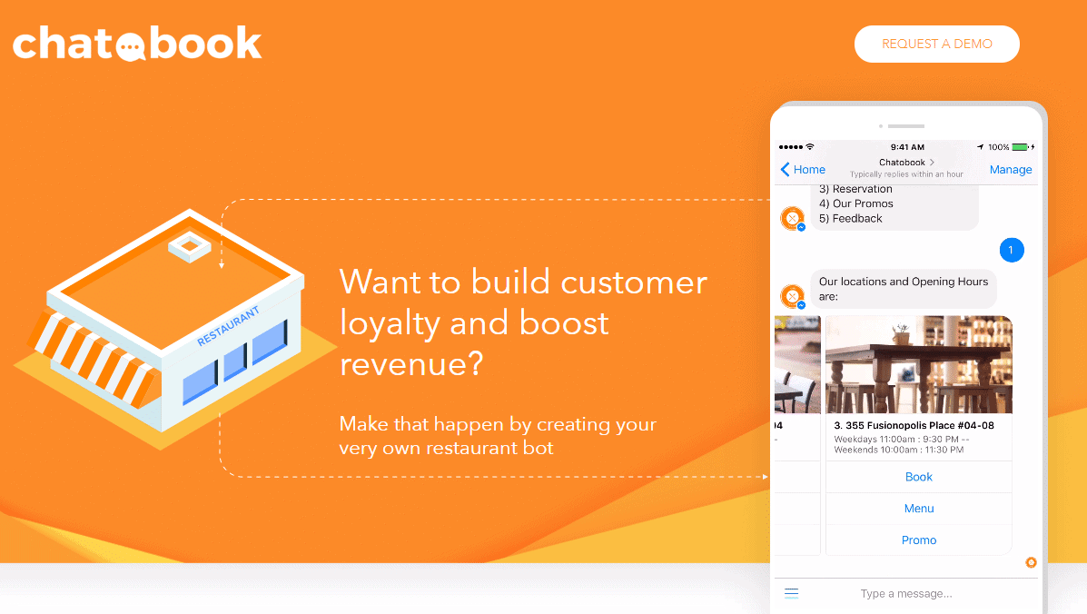 how to create chatbot for a restaurant with chatobook