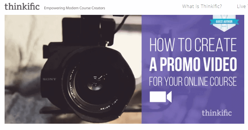 how to create a promo video for your online course