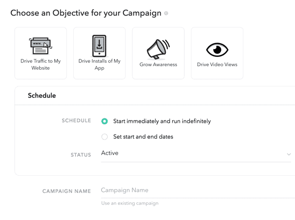 choose-an-objective-for-your-snapchat-campaign