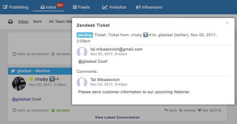 zendesk integration with eclincher 3