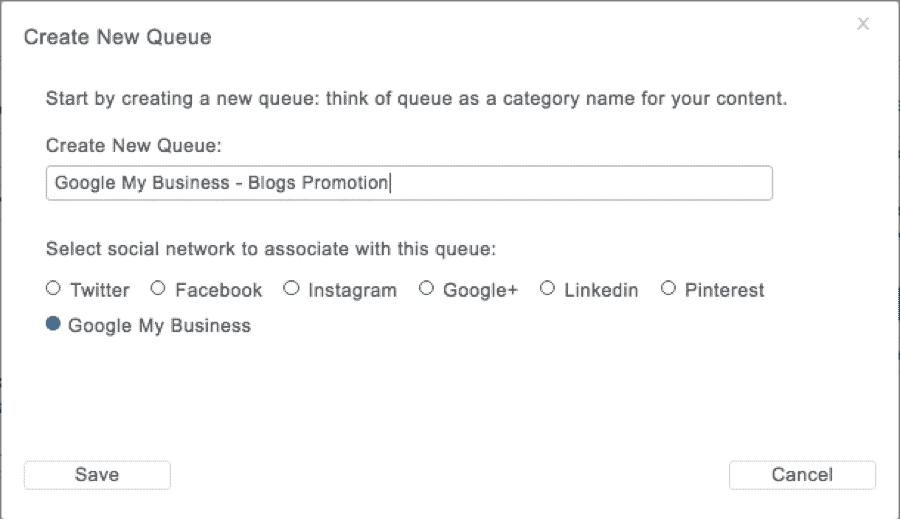 Google My Business create queue