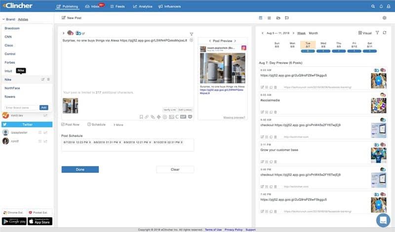 eClincher Client Dashboard