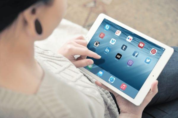 gen z and social media use on iPad