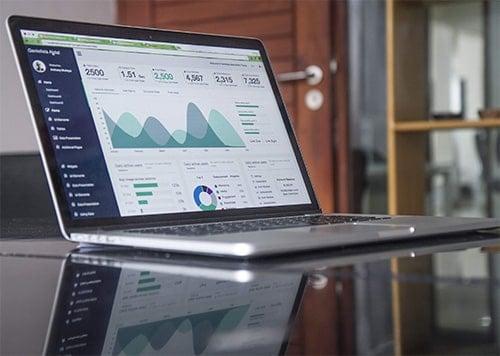 social media analytics on laptop