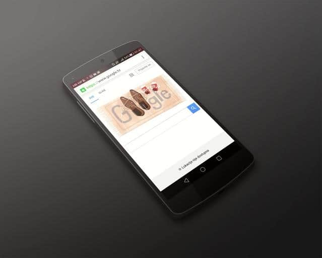 google homepage on mobile