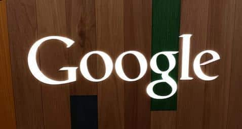 google wooden sign