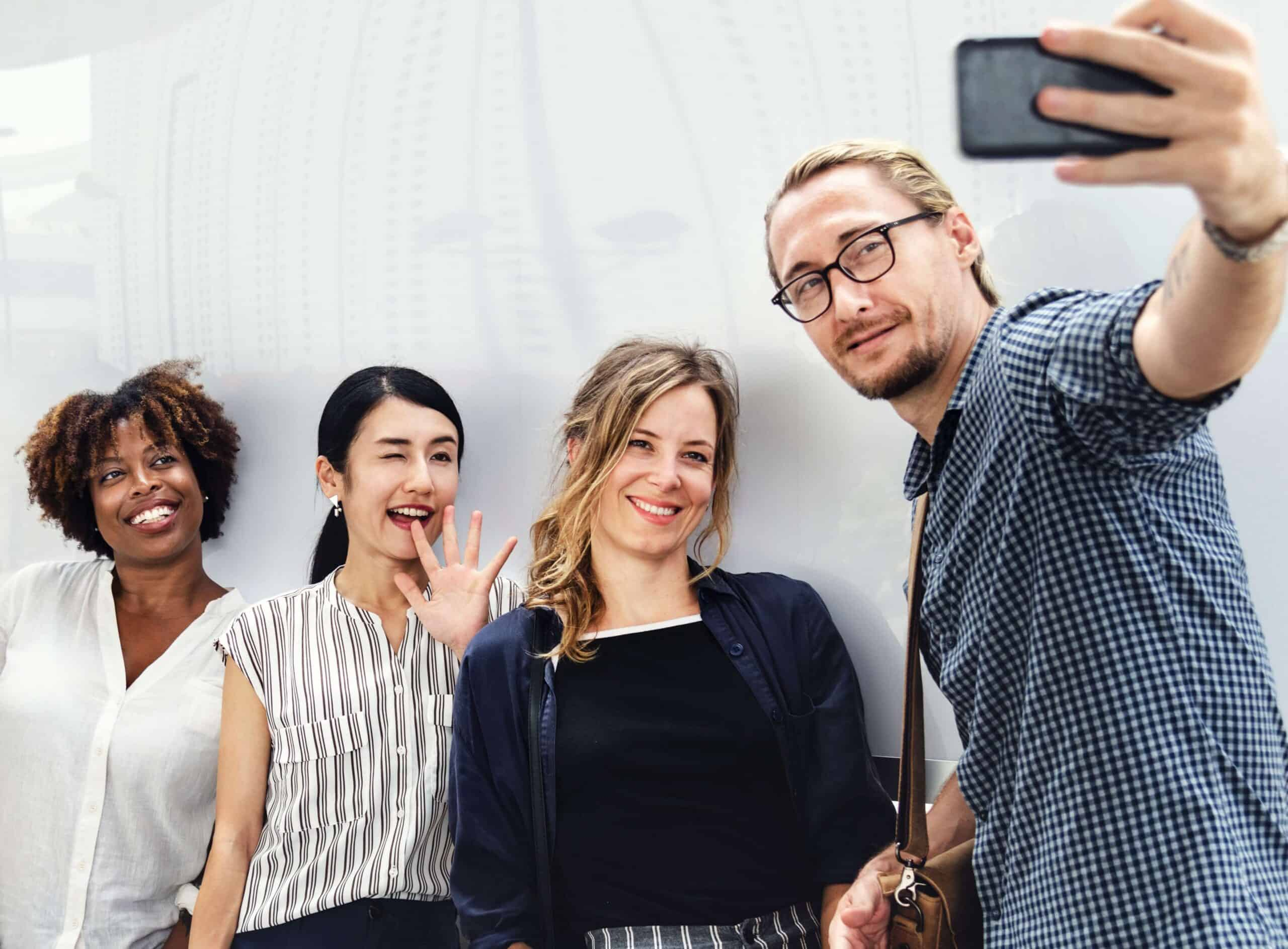 group-taking-selfie