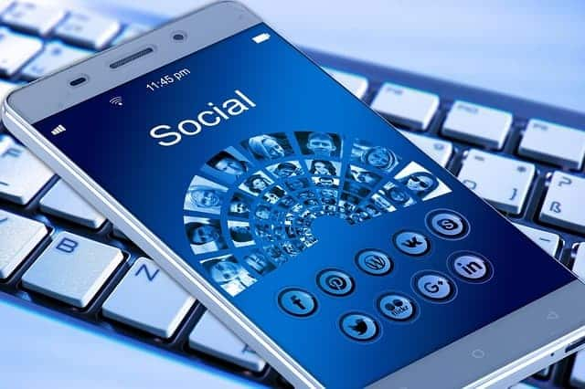 social media followers on smartphone