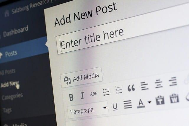 wordpress blog draft