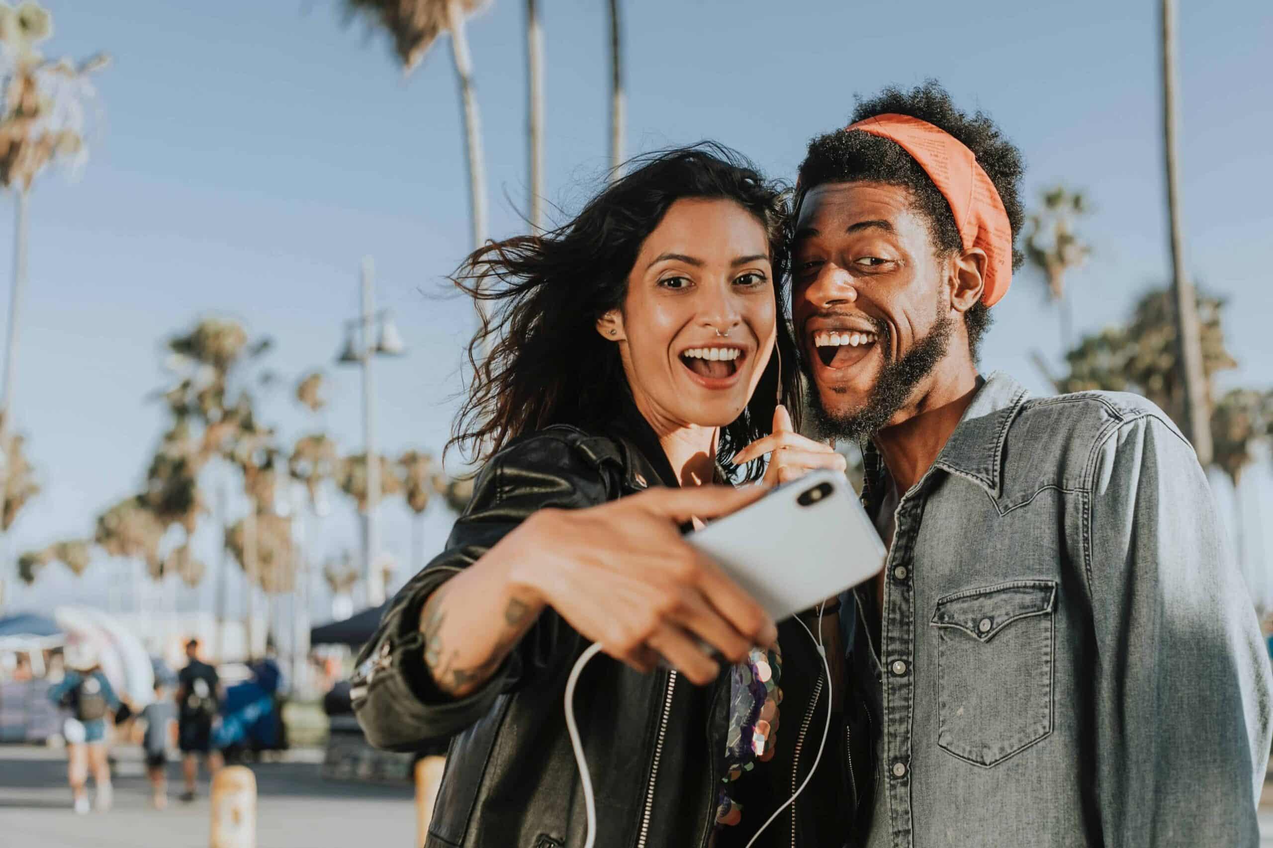 man-and-woman-taking-selfie