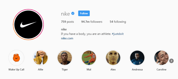 nike instagram page