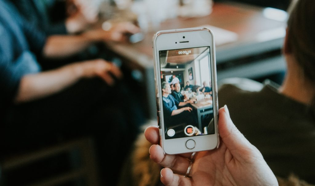 recording social media video on phone
