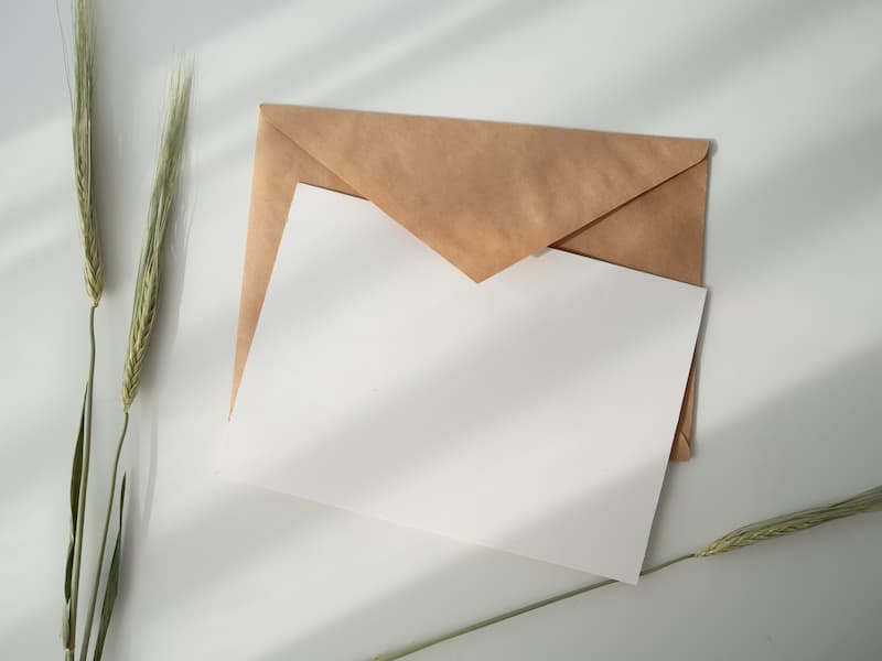 envelope and white paper