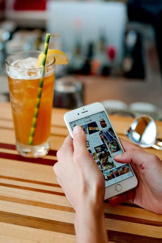 instagram feed on smartphone