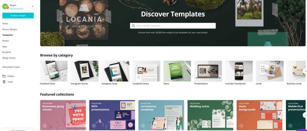 canva free templates
