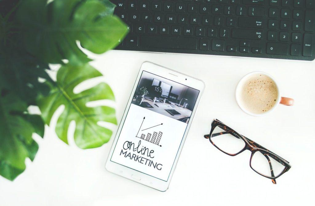 digital marketing on ipad