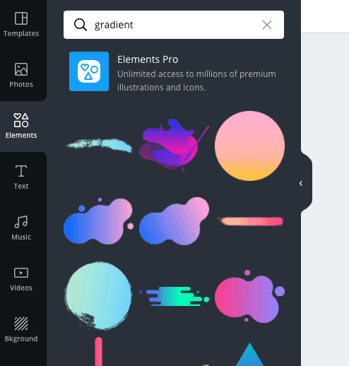 canva tutorial gradient elements