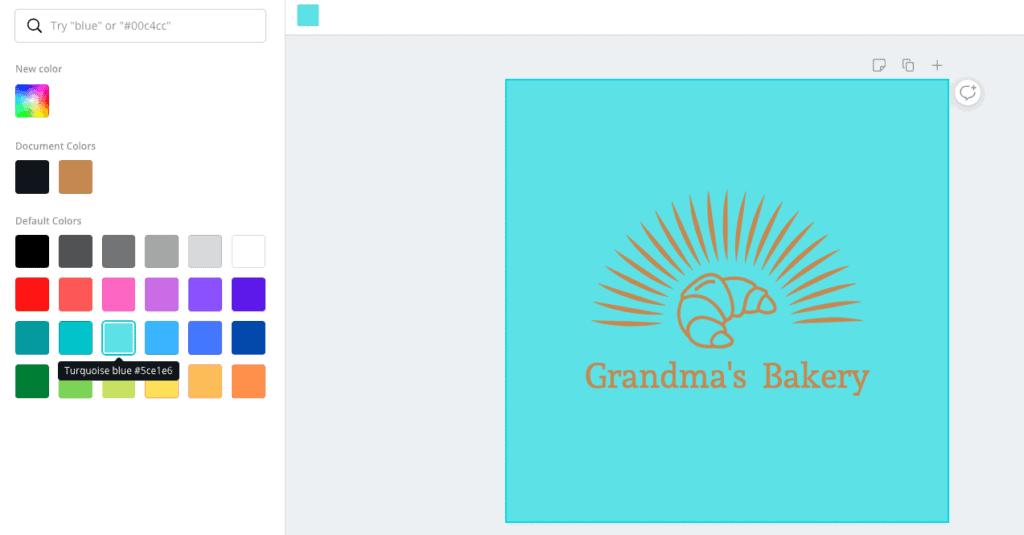 logo blue background