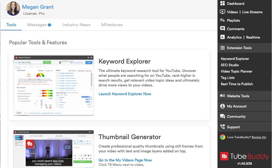 tubebuddy youtube tools