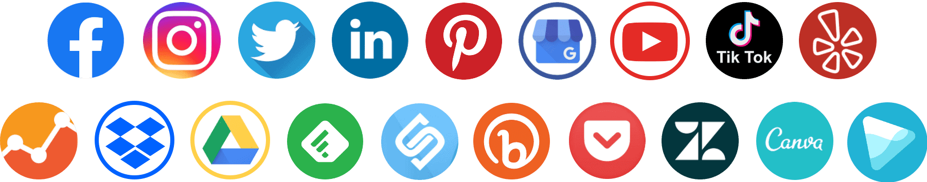 social media round icons