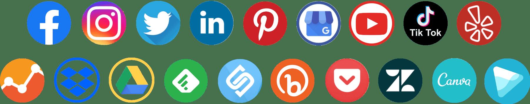 social media round icons