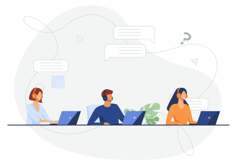 people with laptop illustration