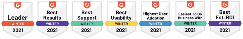 G2 badges social media tool 2021