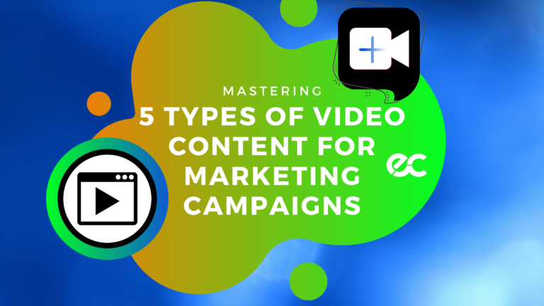 Mastering 5 Types of Video Content for marketing campaigns