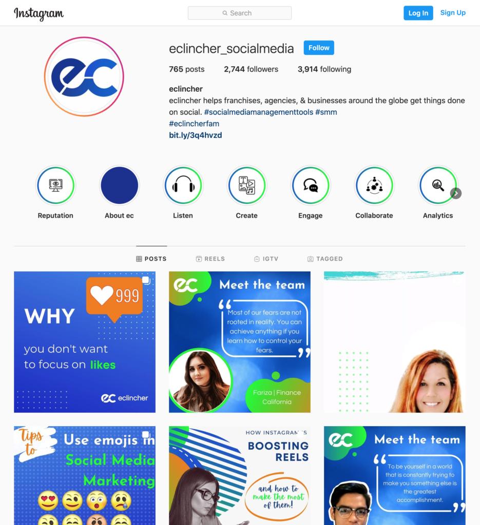 meet the team eclincher_socialmedia screenshot