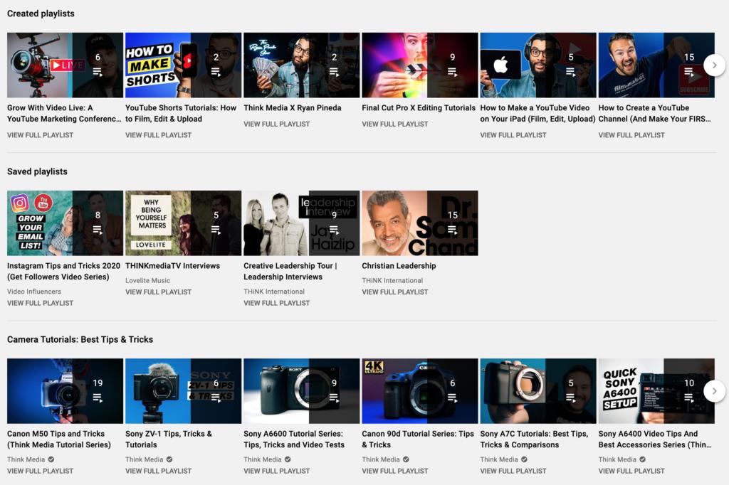 THINK Media YouTube Playlists