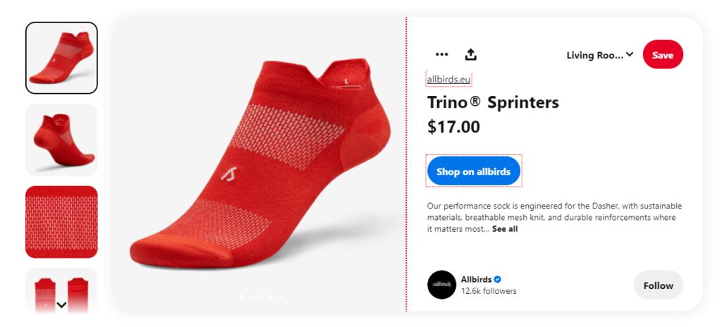 AllBirds Pinterest Product red Socks