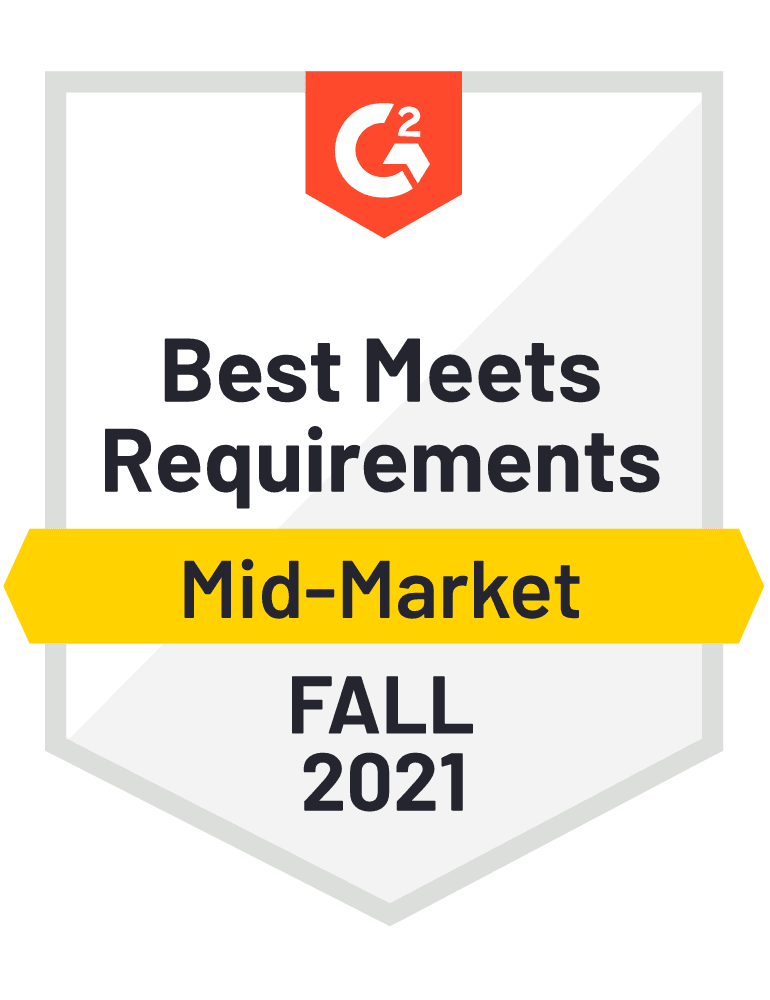 eclincher Best meets Requirements Mid-Market G2 Fall 2021