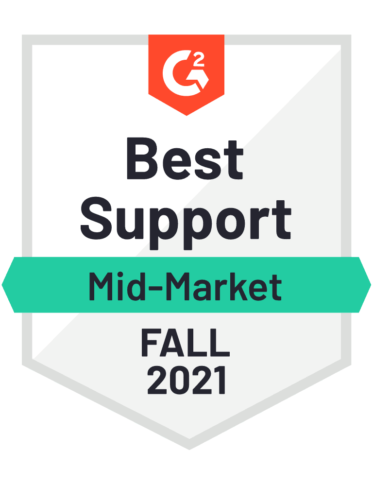 eclincher Best Support Mid-Market G2 Fall 2021