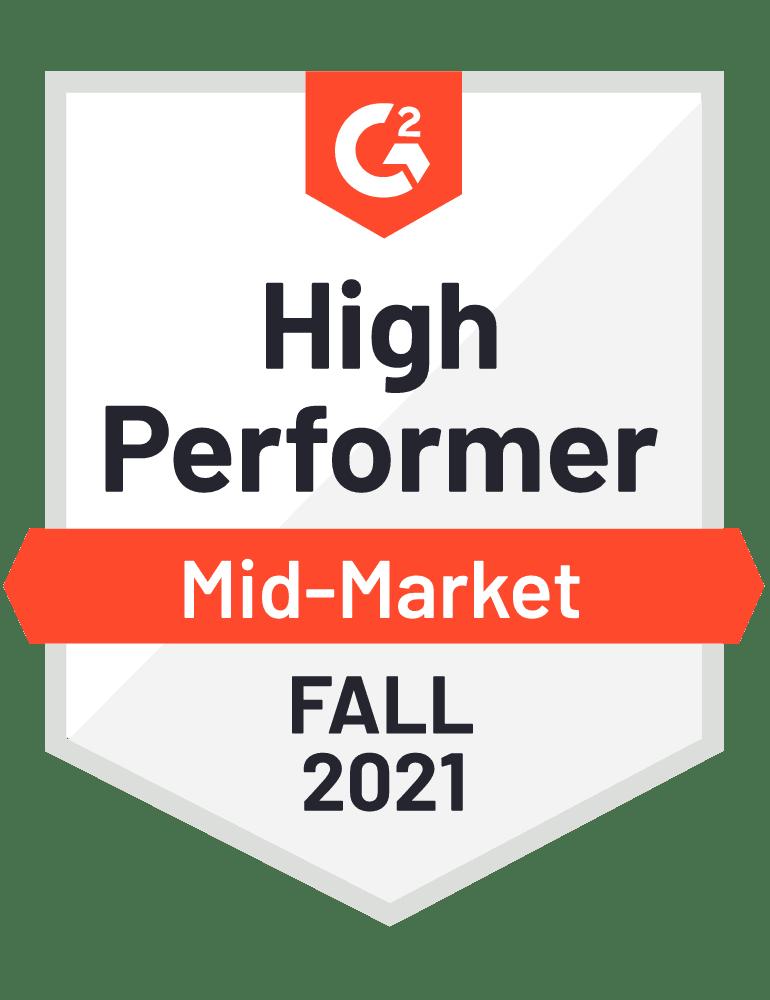 eclincher High Performer Mid-Market G2 Fall 2021