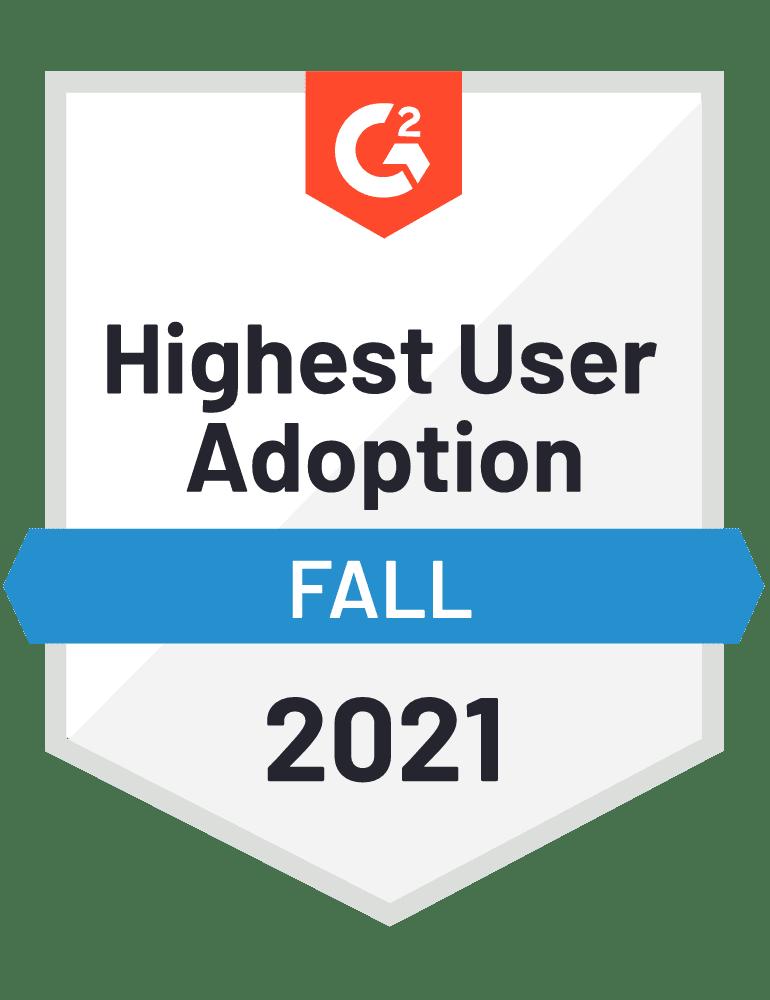 eclincher Highest User Adoption G2 Fall 2021