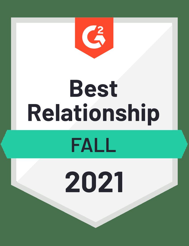 eclincher Best Relationship G2 Fall 2021