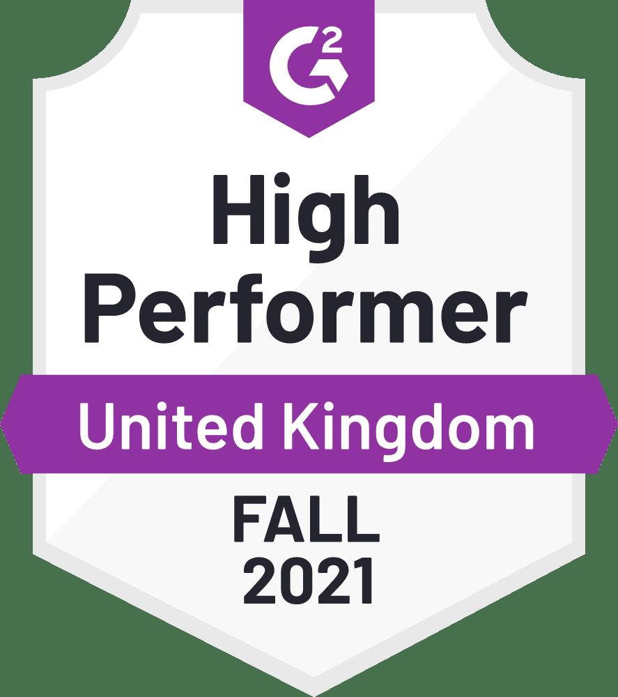 eclincher High Performer United Kingdom G2 Fall 2021