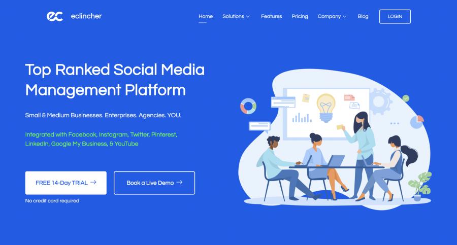 eclincher social media management tools ecommerce tools